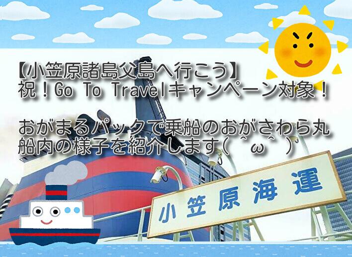 祝Go To対象!おがまるパックでおがさわら丸乗船!【小笠原諸島父島】